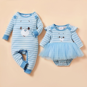 Care Bears Grumpy Bear Face Sibling Tutu and One Piece Set