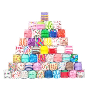 100-pcs Cute Box Cake Baking Muffin Box Paper Cake Cup Party