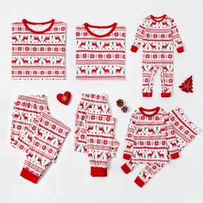 Christmas Reindeer Patterned Family Matching Pajamas Sets