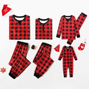 Classic Christmas Plaid Family Matching Pajamas Sets
