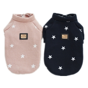 Pet five-pointed star plus velvet sweater