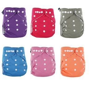 Baby Washable Breathable Adjustable Reusable Cloth Diaper