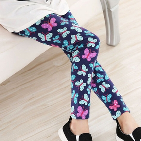 Beautiful Butterfly Allover Print Elasticized Leggings