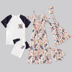 Family Look casual Floral White Matching suits