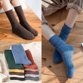 Women's Socks Autumn And Winter Leisure Pure Cotton  Comfortable And Breathable Socks