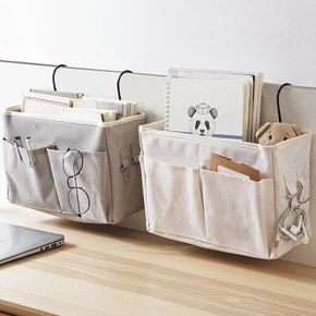 Cotton Linen Storage bags Hanging Bag Wall Pouch Cosmetic Toys Home Organize Pockets