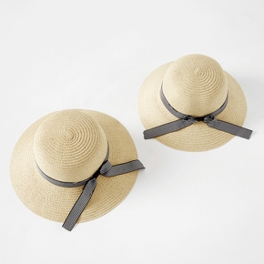Beach Straw Hats with Bowknot for Mommy and Me