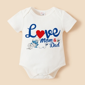 Smurfs Baby Boy/Girl Valentine's Day 100% Cotton Romper
