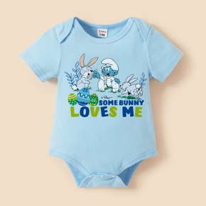 Smurfs Baby Boy/Girl 100% Cotton Easter Bodysuit