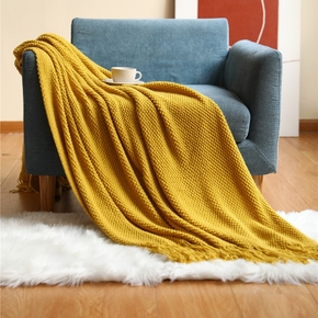 Blanket With Tassels Warm Knitted Blankets For Beds Soft Sofa Blanket