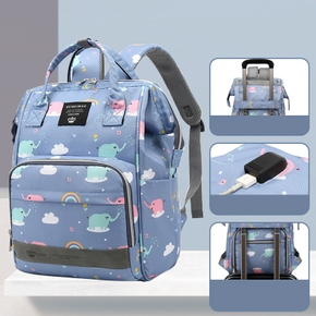 Multicolorful Diaper Bag Backpack Large Capacity Durable Maternity Travel Backpack For Baby Care