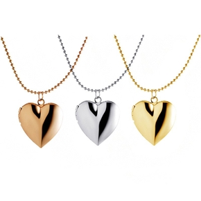 Floating Charm Locket Pendants Chain Charm Women Jewelry Love Heart Phase Box Photo Frame Necklace