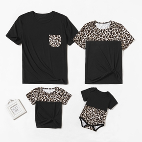 Leopard Splice Print Family Matching Tops