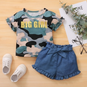 2pcs Summer Cotton Baby Girl casual Baby's Sets