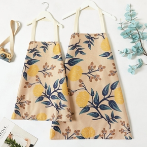 Floral Print Kitchen Aprons for Mommy and Me