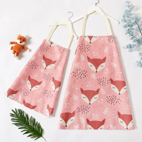 Fox Animal Print Kitchen Aprons for Mommy and Me