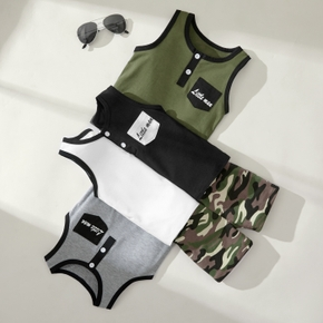 Baby / Toddler Boy Casual Vest and Camouflage Shorts Set
