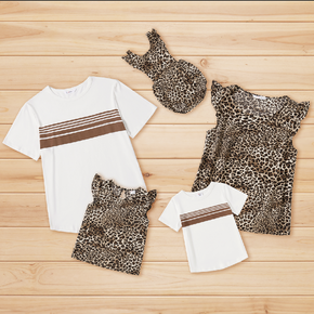 Leopard and Stripe Family Matching Tops