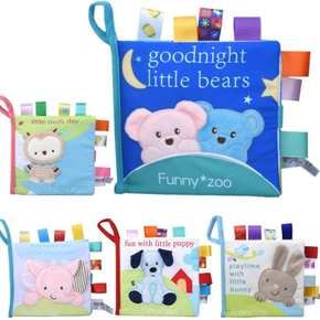 Adorable Baby Animal Cloth Baby Book Intelligence Development Educational Toy Soft Cloth Learning Cognize Books