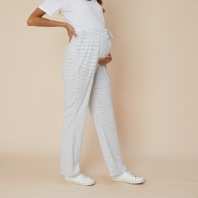 Maternity casual Stripes Print Relaxed fit Casual pants