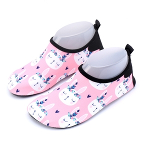 Pink Rabbit Cartoon Athleisure Beach Shoes for Girls