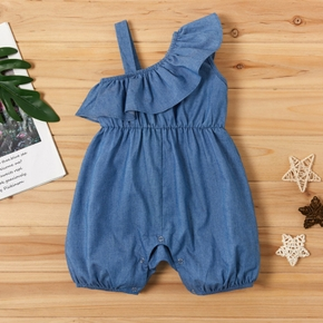 Baby weiches Denim Volants Body
