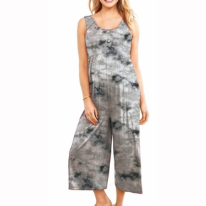Maternity casual Tie dye Print Suspender pants
