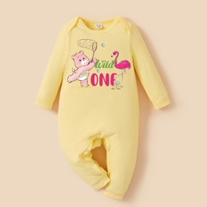 Care Bears Baby Boy/Girl Flamingo Cotton Jumpsuit
