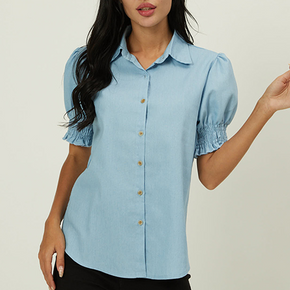Casual Print Polo collar Short Sleeve Shirt