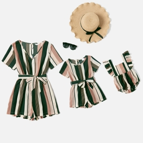 Stripe Series Short Rompers for Mommy and Me