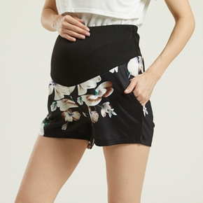 Maternity casual Floral Print Regular type Casual pants