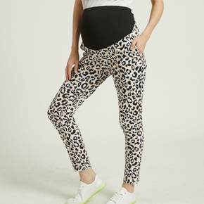 Maternity casual Leopard Print Close-fitting leggings