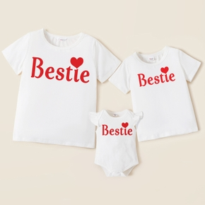 Mosaic Summer New Bestie Cotton Tee and Bodysuit for Mommy and Me