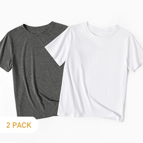 2-Pack Casual Round collar Short Sleeve T-shirt