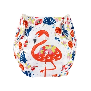 Baby Waterproof Cloth Diapers Printed Diapers One Size Pocket Baby Nappies Washable Cloth Diaper Cover Adjustable Eco-friendly Nappy