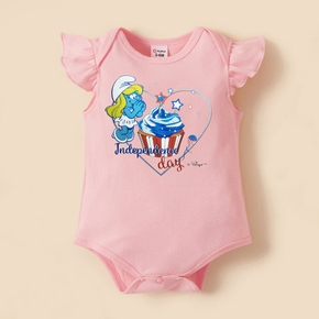 Smurfs Baby Girl Stars and Ice-cream Independence Day Cotton Bodysuit