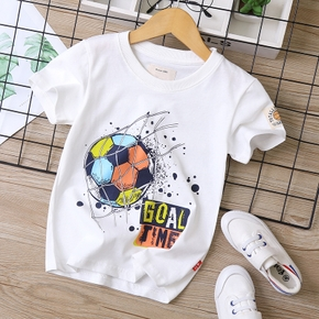 Football Print Athleisure Tee for Toddlers / Kids