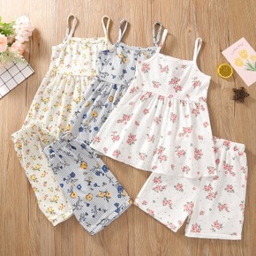 Toddler Girl Print Floral Camisole and Shorts Set