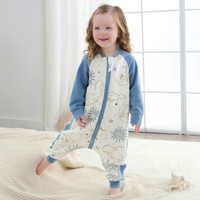 Baby Cotton Long-sleeved Sleeping Bag For Baby Newborn Infants and Toddlers Anti-kick Quilt
