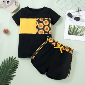 Kids Girl Sunflower Tee and Shorts Set