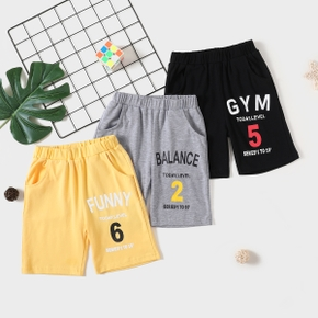 Number and Letter Print Shorts for Toddlers / Kids