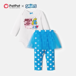 Smurfs Baby Girls Wanna Have Fun Jumpsuit and Polka Dot Leggings Sets