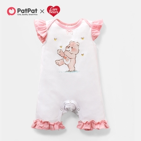 """Care Bears """"Love You A Lot"""" Ruffled Cotton Romper"""