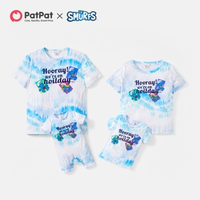 Smurfs Holiday Tie-Dye Family Matching Tops and Romper