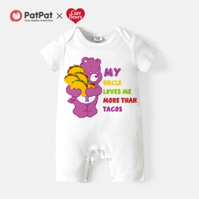 Care Bears Baby Boy/Girl Letter and Tacos Cotton Romper