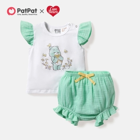 Care Bears 2-piece Baby Girl Wish Bear 100% Cotton Top and Bloomer Set
