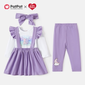 "Care Bears Baby Girl "" Share a Hug"" Cotton Tee and Skirt & Bow & Pants Set"