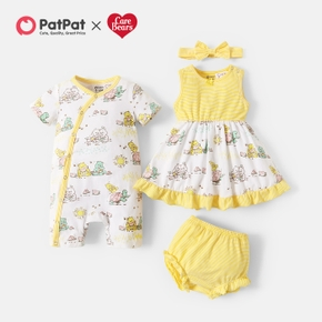 Care Bears Wish Picnic Print Cotton Sibling One Piece and Dress
