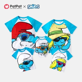 Smurfs Big Graphic Family Matching Tops and Romper