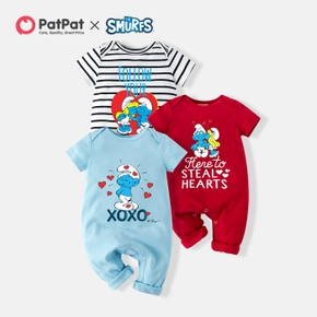 Smurfs Baby Stripe and Sweetheart Cotton Jumpsuit/One Piece